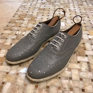 Grenson Wingtip Dress Shoes (Gray, Size 10)